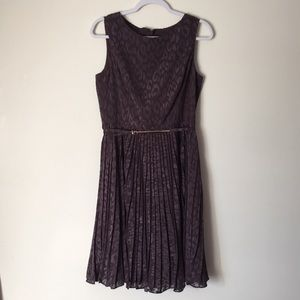 Adrianna Papell dress with gold belt
